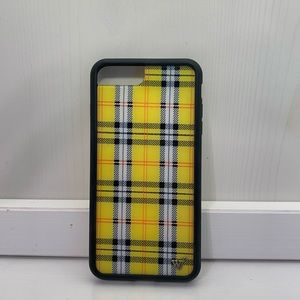 YELLOW PLAID WILDFLOWER CASE FOR IPHONE 8+